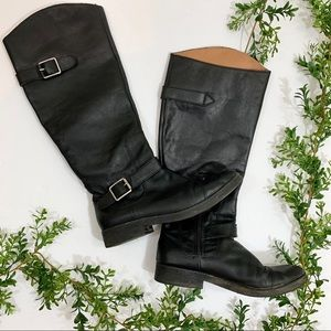 Lucky Brand Black Leather Riding Boots